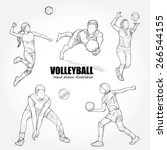 illustration of volleyball.... | Shutterstock .eps vector #266544155