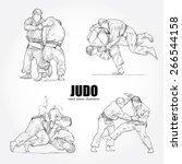 illustration of judo. hand... | Shutterstock .eps vector #266544158