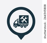 car service icon map pin on... | Shutterstock .eps vector #266545808