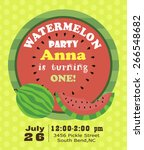 watermelon party card | Shutterstock .eps vector #266548682