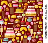 sweet food icons seamless... | Shutterstock .eps vector #266562536
