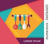 kitchenware spatula flat icon... | Shutterstock .eps vector #266562602