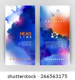 set of two banners  abstract... | Shutterstock .eps vector #266563175
