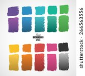 grunge ink hand drawn squares | Shutterstock .eps vector #266563556