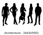 woman and man silhouettes design | Shutterstock .eps vector #266565002