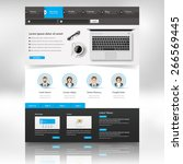 website template design for... | Shutterstock .eps vector #266569445
