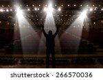 Silhouette Of Actors In The...