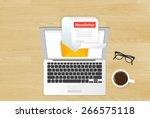 newsletter illustration of... | Shutterstock . vector #266575118
