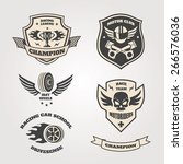 racing  motorclub emblems set... | Shutterstock .eps vector #266576036