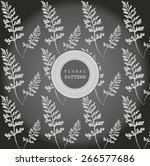 beautiful floral background art.... | Shutterstock .eps vector #266577686