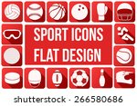 Set Of Square Sport Icons With...