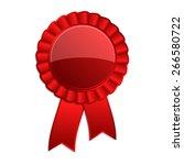 red blank award rosette with...   Shutterstock .eps vector #266580722