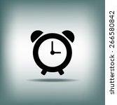 alarm clock icon | Shutterstock .eps vector #266580842