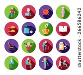 senior lifestyle icons set with ...   Shutterstock .eps vector #266586242