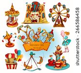 amusement kids entertainment... | Shutterstock .eps vector #266586458