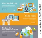 social mass media banner... | Shutterstock .eps vector #266586782