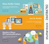 social mass media banner... | Shutterstock .eps vector #266586782