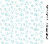 sea shells pattern | Shutterstock .eps vector #266589602