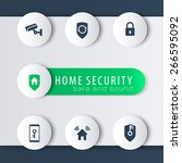 home security modern round...