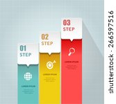 business infographic template.... | Shutterstock .eps vector #266597516