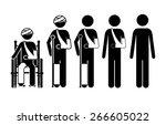 medical care design over white... | Shutterstock .eps vector #266605022