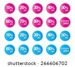 set of percent discount  sale... | Shutterstock .eps vector #266606702