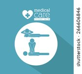 medical care design over blue... | Shutterstock .eps vector #266606846
