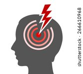 headache vector icon | Shutterstock .eps vector #266610968
