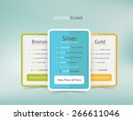 pricing plans for websites and... | Shutterstock .eps vector #266611046