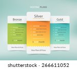 pricing plans for websites and... | Shutterstock .eps vector #266611052