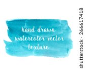 set of watercolor strokes and... | Shutterstock .eps vector #266617418