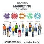 inbound marketing strategy...   Shutterstock . vector #266621672