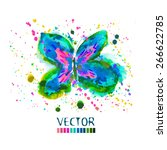 Butterfly Watercolor. Vector