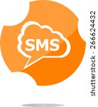 vector sms glossy web icon... | Shutterstock .eps vector #266624432