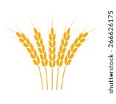 wheat ears or rice icon. crop... | Shutterstock .eps vector #266626175