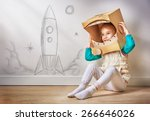 Child Is Dressed An Astronaut - Fine Art prints