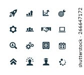 startup icons vector set | Shutterstock .eps vector #266647172