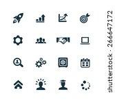 startup icons vector set | Shutterstock .eps vector #266647172