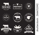 Vector Set Of Premium Beef...