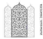 arabian ornament vector... | Shutterstock .eps vector #266651336