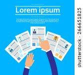 curriculum vitae recruitment... | Shutterstock .eps vector #266651825