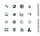 diagram icons vector set | Shutterstock .eps vector #266652455