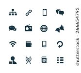 communication icons vector set | Shutterstock .eps vector #266654792