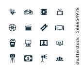 cinema icons vector set | Shutterstock .eps vector #266654978