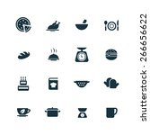 cooking icons vector set | Shutterstock .eps vector #266656622