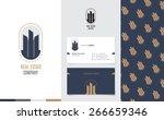 vector   real estate logo with... | Shutterstock .eps vector #266659346