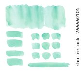 collection of watercolor... | Shutterstock . vector #266660105