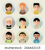 this is set of cartoon... | Shutterstock .eps vector #266662115