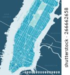 map of new york | Shutterstock .eps vector #266662658