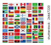 vector flags | Shutterstock .eps vector #26667220